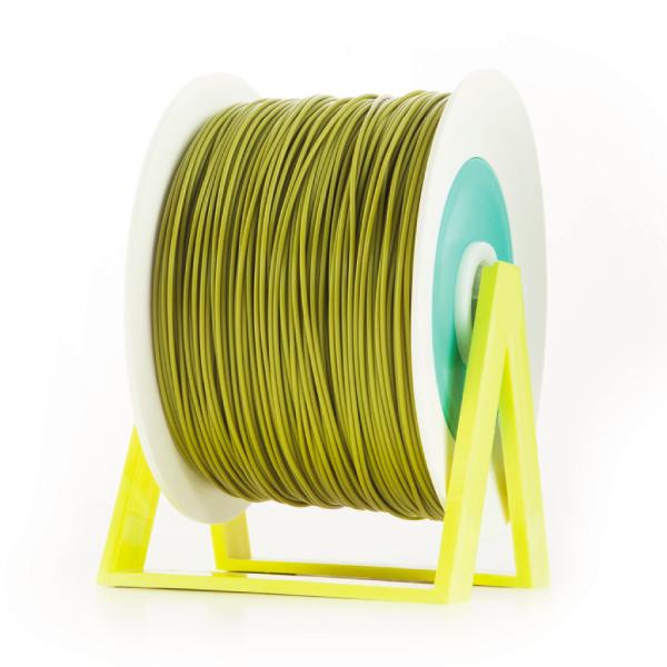 Bobina di filamento da 1kg di PLA 1,75mm Eumakers giallo oliva Sharebot Monza stampa 3d