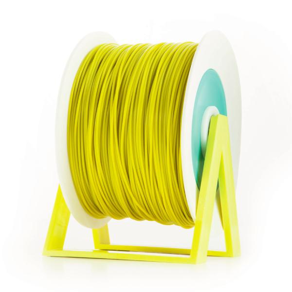 Bobina di filamento da 1kg di PLA 1,75mm Eumakers giallo senape Sharebot Monza stampa 3d