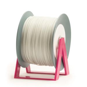 Bobina di filamento da 1kg di PLA 1,75mm Eumakers argento bianco traslucido glitter Sharebot Monza stampa 3d