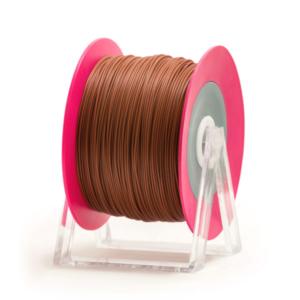 Bobina di filamento da 1kg di PLA 1,75mm Eumakers marrone mattone glossy Sharebot Monza stampa 3d