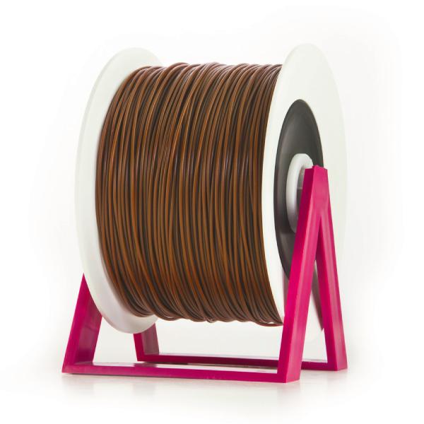 Bobina di filamento da 1kg di PLA 1,75mm Eumakers marrone scuro Sharebot Monza stampa 3d