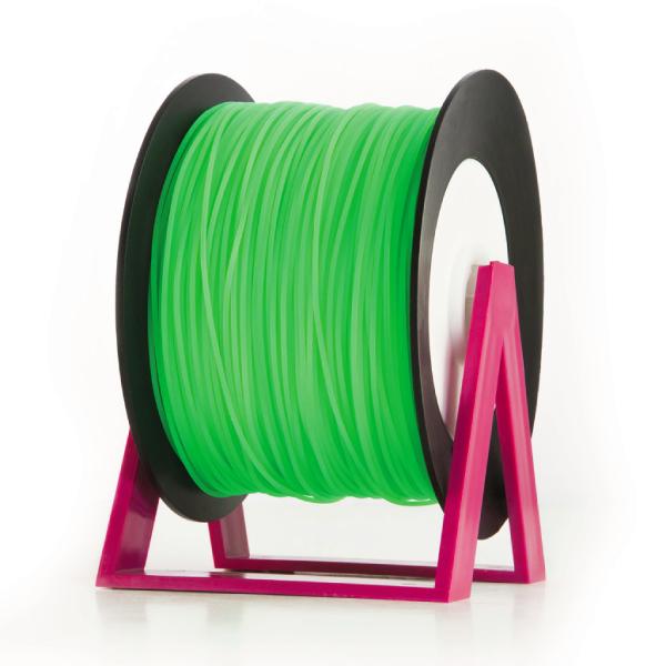 Bobina di filamento da 1kg di PLA 1,75mm Eumakers verde fluo Sharebot Monza stampa 3d