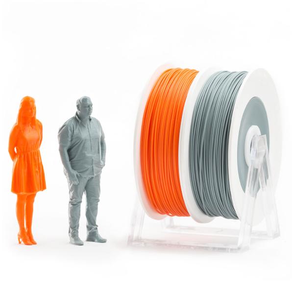 Coppia di bobine PLA 500g Eumakers: arancione e grigio