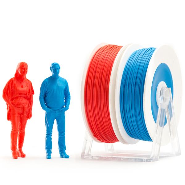 Coppia di bobine PLA 500g Eumakers: rosso e blu