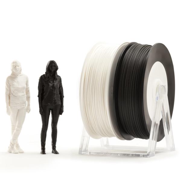 Coppia di bobine PLA 500g Eumakers: bianco e nero