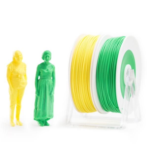 Coppia di bobine PLA 500g Eumakers: giallo e verde