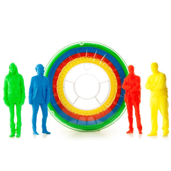 Filamento PLA Multicolor BASIC Eumakers (giallo, rosso, blu e verde)