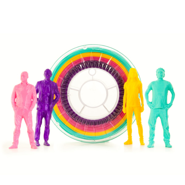 Filamento PLA Multicolor MODERN Eumakers (viola, rosa, ocra e verde acqua)