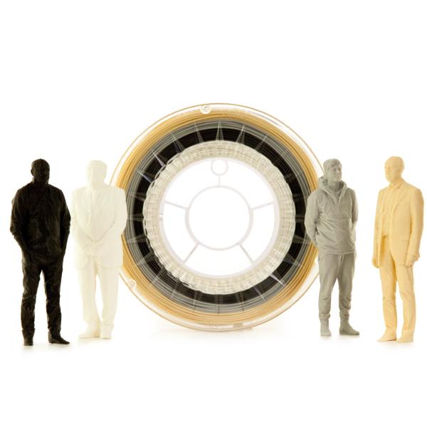 Filamento PLA Multicolor NEUTRAL Eumakers (bianco, nero, grigio e beige)