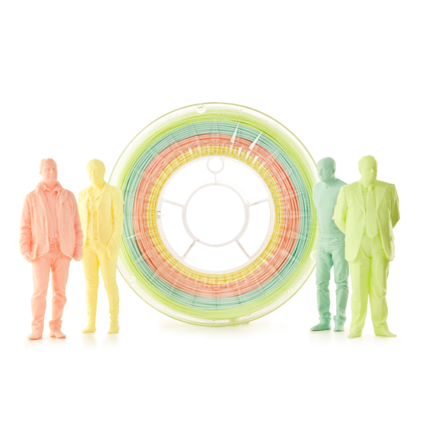 Filamento PLA Multicolor PASTEL Eumakers (giallo chiaro, rosa antico, verde acqua e verde)