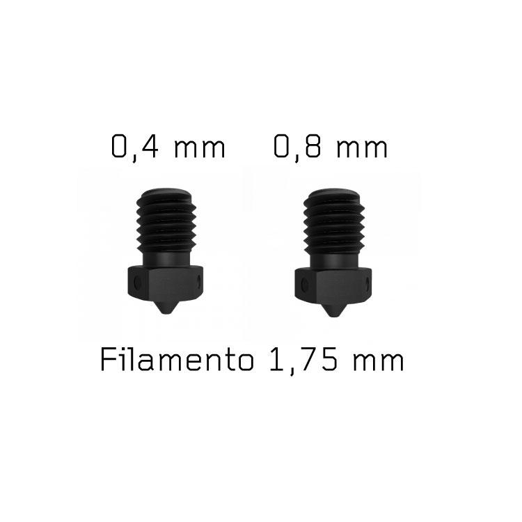Kit V6 Nozzle Acciaio Temprato Stampante 3D (2 pezzi)
