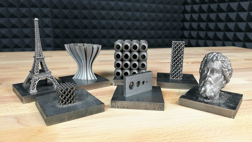 sharebot metal one pezzi stampati