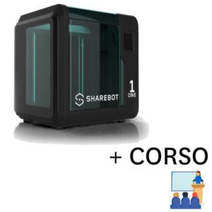 stampante 3d economica sharebot one corso 3d store monza