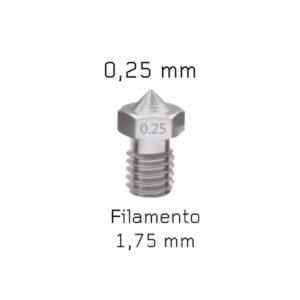 nozzle v6 acciaio 0,25 mm sharebot 3d store monza
