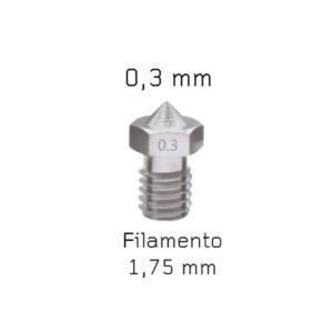 nozzle v6 acciaio 0,3 mm sharebot 3d store monza