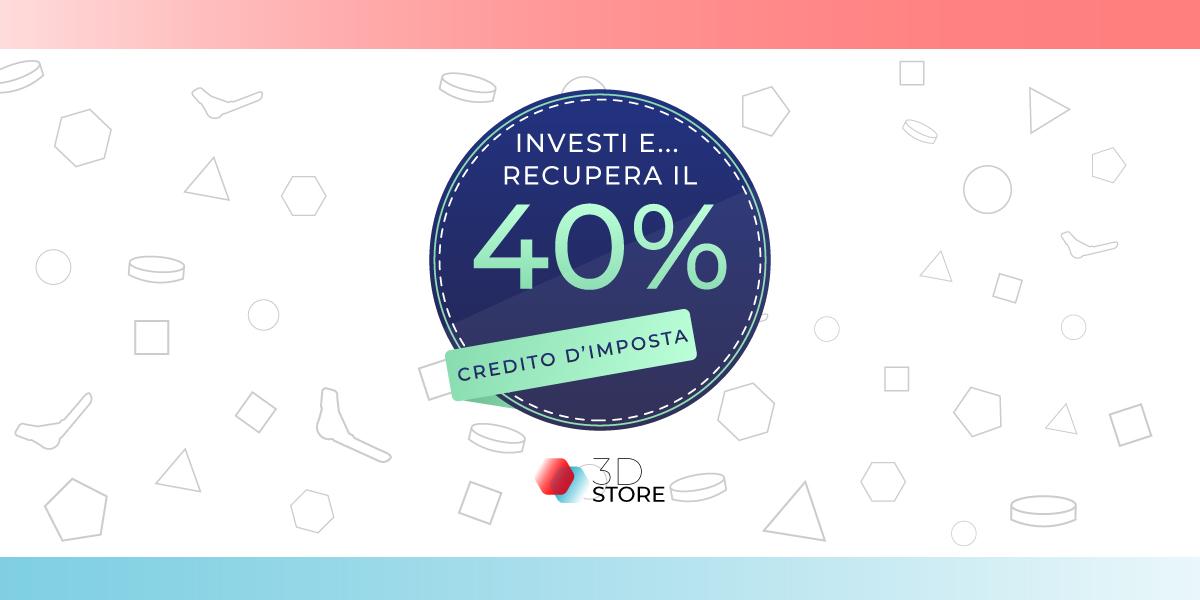 credito imposta 2020 recuperare investimento stampanti 3d store monza sharebot