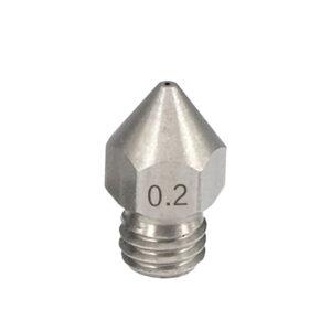 nozzle mk8 acciaio 0,2mm nozzle creality stampa 3D store monza